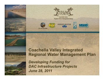 Coachella Valley Integrated Regional Water Management Plan - ICWT