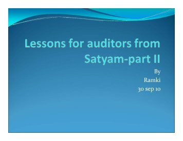 IAVA _What happened in Satyam and lessons for auditors-part 2