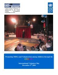 Go straight to PDF document - United Nations Volunteers