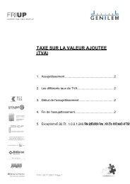 TAXE SUR LA VALEUR AJOUTEE (TVA) - Fri Up