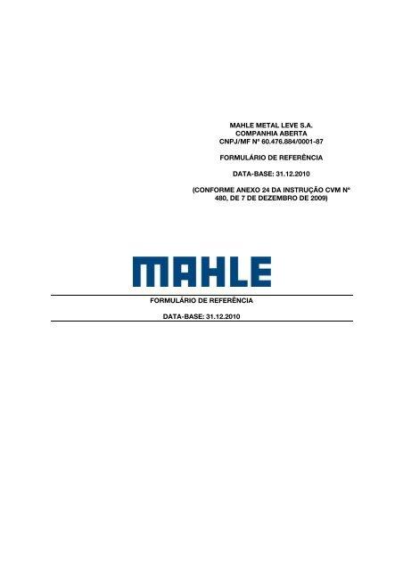 Ano de 2010 - mahle