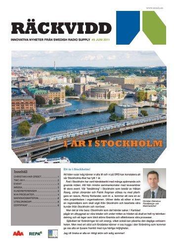 1 ÅR I STOCKHOLM - VHF Group AS