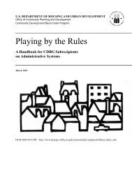 Playing by the Rules: A Handbook for CDBG ... - City of El Cajon