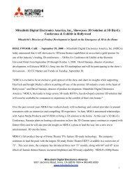 Download PDF - Mitsubishi Digital Electronics America
