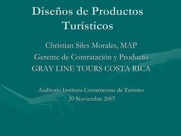 Diseños de Productos Turísticos - Costa Rica