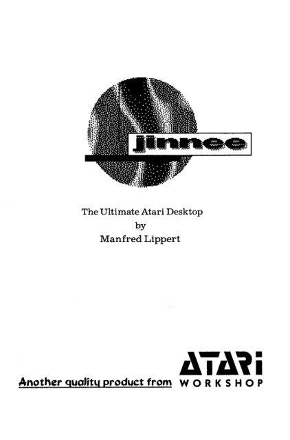 Jinnee v2 5 User Manual (English) - Atari Documentation Archive