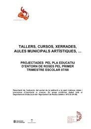ACTIVITAT DEL PEE 2 octubre 07 - Ajuntament de Roses