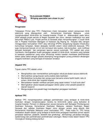 TELEJAGAAN PRIMER - Jabatan Kesihatan Negeri Sarawak ...