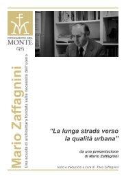 """""""La lunga strada verso la qualità urbana"""" - Fondazione del Monte"""