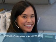 UCPath Overview (PDF) - UCDavis Accounting & Financial Services