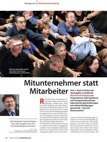 Mitunternehmer statt Mitarbeiter - Miterfolg GmbH