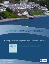 CTAPRNS Annual Conference Brochure 2011.pdf - University of ...