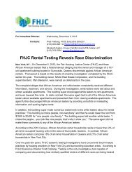 FHJC Rental Testing Reveals Race Discrimination - Fair Housing ...