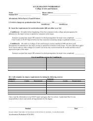 Acceleration Worksheet - College of Arts and Sciences - Cornell ...