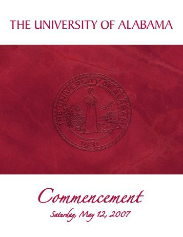 Commencement - The University of Alabama