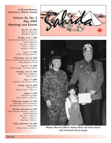 Volume 26, No.2, May 2009 - Al Shamal Shriners