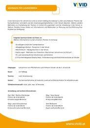 Infoblatt Seminare für LehrerInnen (PDF) - Vivid