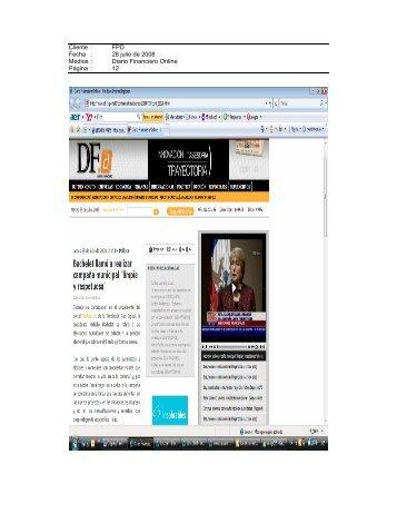 Diario Financiero on line, 28 de julio - Fundación País Digital