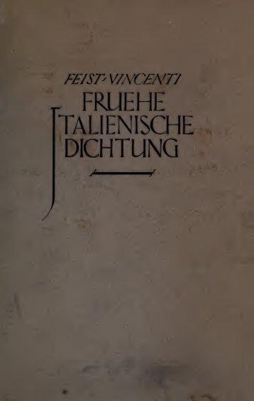 Frühe italienische Dichtung;