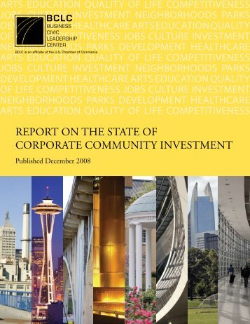 RepoRt on the State of CoRpoRate Community ... - Civic Enterprises