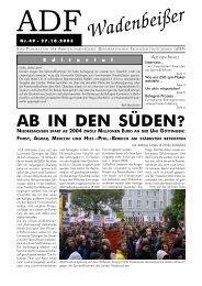 Wadenbeißer Nr. 49 vom 27.10.2003 [PDF] - ADF ...