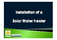 Guides to installation of a Photo Solar Water Heating system - MIEMA
