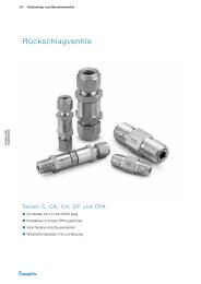 Rückschlagventile Serien C CA CH CP und CPA (MS-01 ... - Swagelok