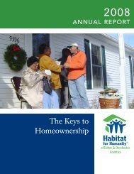 The Keys to Homeownership - Habitat for Humanity Choptank