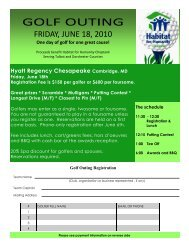 GOLF OUTING - Habitat for Humanity Choptank