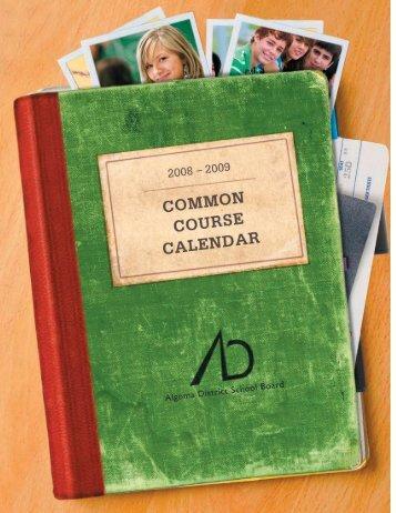 2008 09 Calendar.indd - Algoma District School Board
