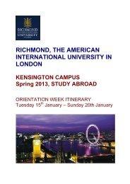 Richmond - The American International University in London