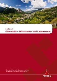 Leitbild der Region Oberwallis 2009 - RW Oberwallis