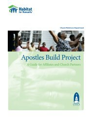 Apostles Build Project - Habitat for Humanity Choptank