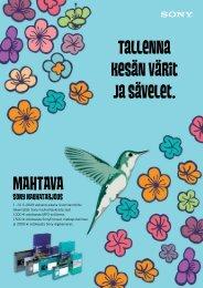 Tallenna kesän värit ja sävelet. MAHTAVA - Suomilammi Oy