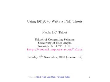 Writing a thesis in LaTeX