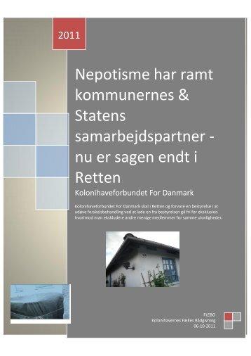 Nepotisme har ramt kommunernes & Statens samarbejdspartner ...