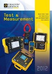Test & Measurement - Chauvin-Arnoux i Skandinavien