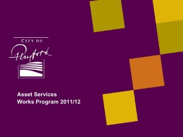 Works Program 2011/2012 - City of Playford