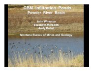 Considerations for evaluating coalbed methane infiltration pond ...