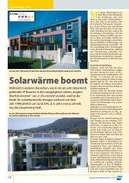 Solarwärme boomt - Austria Solar
