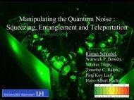 Squeezing, Entanglement and Teleportation - LIGO