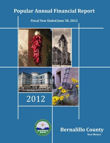 2012 Popular Annual Financial Report - Bernalillo County