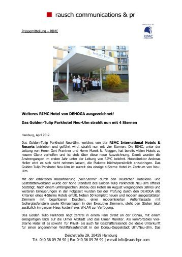 Martina Rausch - RIMC International Hotel Resort Management ...