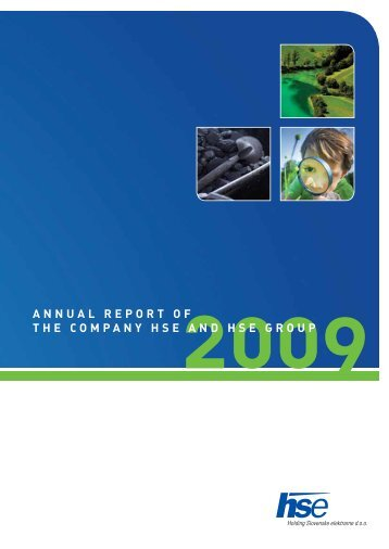 ANNUAL REPORT OF THE COMPANY HSE AND HSE GROUP
