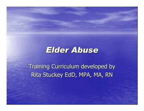 Stuckey Elder Abuse P