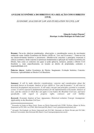 Análise Econômica do Direito e sua Relação com o Direito Civil