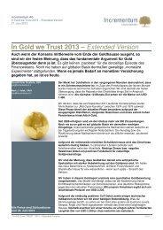 """In GOLD we TRUST"""" 2013 - Münze Österreich AG"""