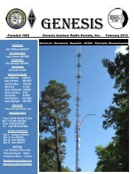 Genesis Amateur Radio Society, Inc. February 2012