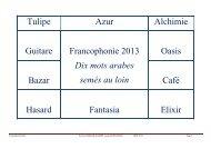 Dix mots arabes semés au loin - Lycée Lyautey