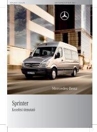 Mercedes-Benz Sprinter kezelési útmutató letöltése (PDF)